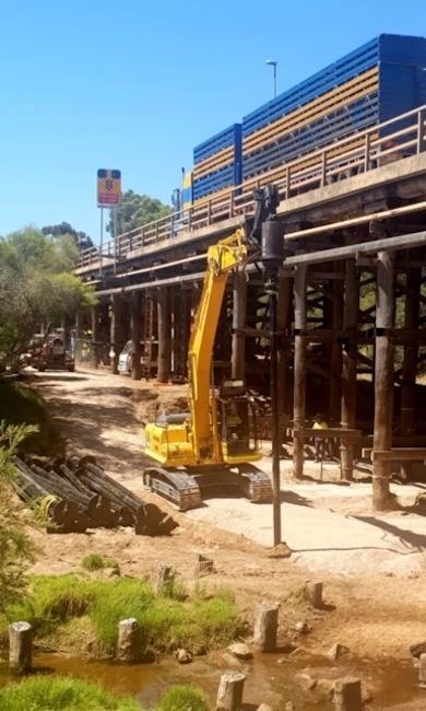 Screwpiling for Remedial Bridge Piling Works